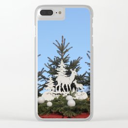 Mama and Baby Deer Clear iPhone Case