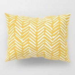 Boho Mudcloth Pattern, Summer Yellow Pillow Sham