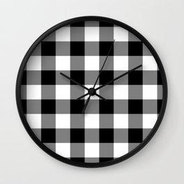 Gingham (Black/White) Wall Clock
