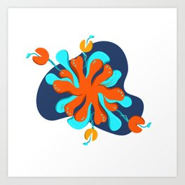 Water flower colorful Art Print