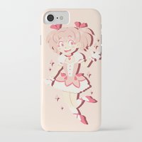 magical girl iPhone & iPod Cases featuring Become A Magical Girl!  by Minty Art
