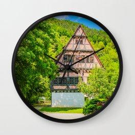 Klosterhof Blaubeueren ( Half-timbered House ) Wall Clock