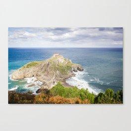 San Juan de Gaztelugatxe landscape Canvas Print