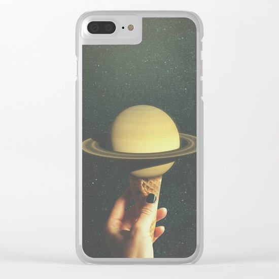 Saturn Cone Clear iPhone Case