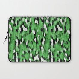 Green Leopard Pattern Laptop Sleeve