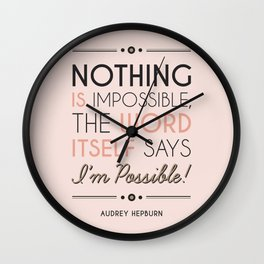 I'm Possible! - Quote Wall Clock