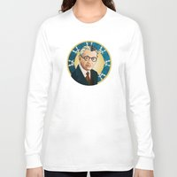 kurt rahn Long Sleeve T-shirts featuring Kurt Gödel by Renee Bolinger