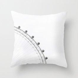 London Eye Monochrome Throw Pillow