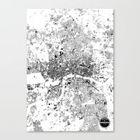 london map Canvas Prints featuring LONDON MAP by Maps Factory
