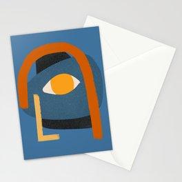 Modernist Man Portrait - Cubist Modernism Portrait - Mid Century Portrait Stationery Cards