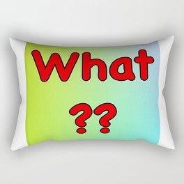 Double What?? Rectangular Pillow