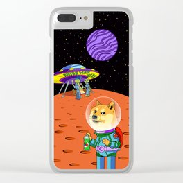 Shibe Doge Astro and the Aliens Memes Cats Cartoon Clear iPhone Case