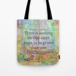 Thomas Aquinas FRIENDSHIP Quote Tote Bag