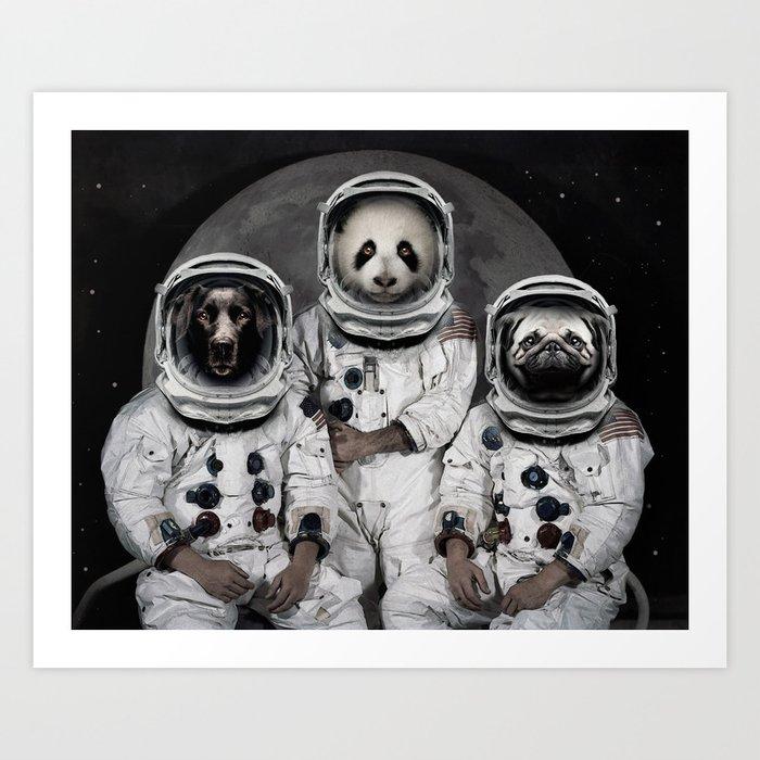 Capricorn 3 - Astronaut animal group Art Print