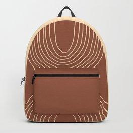 Hand drawn Geometric Lines in Terracotta and Beige 4 Backpack