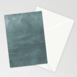 Cool Tropical Blue-Green Abstract Watercolor Blend 2021 Color of the Year Aegean Teal 2136-40 Stationery Cards