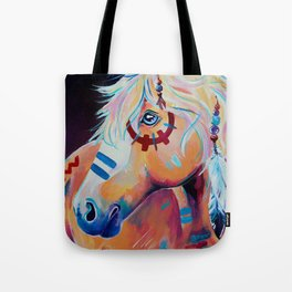 Apache - Native American War Horse Tote Bag
