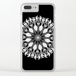 Black-and-White Abstract 26 Clear iPhone Case