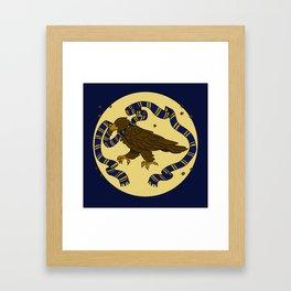 Clever Eagle Framed Art Print