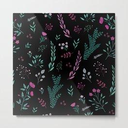 Purple in dark pattern Metal Print