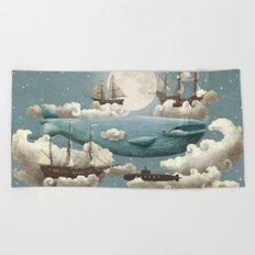 Ocean Meets Sky - colour option Beach Towel