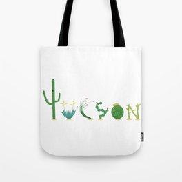 Tucson Cacti Letters Tote Bag