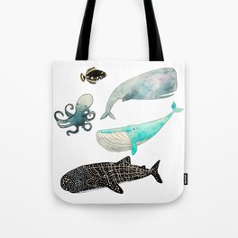Whales and friends Tote Bag