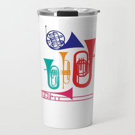 Colorful Wind Musical Instrument Musician Player Travel Mug