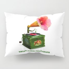 ORGANIC INVENTIONS SERIES: Vintage Floral Phonograph Pillow Sham