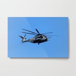Marine Helicopter In Flight Metal Print