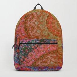 Mandala Glitch Solar Backpack