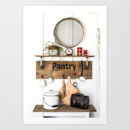 Pantry Shelf - tall Art Print