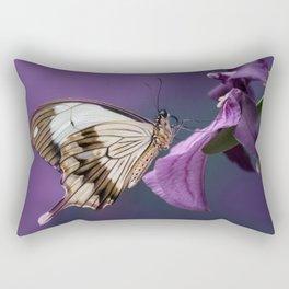 Pretty butterfly on pink flower Rectangular Pillow