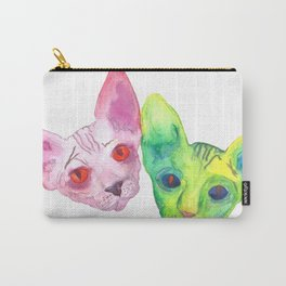 Colored Cats Carry-All Pouch