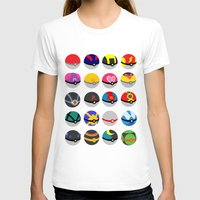 pokeball T-shirts featuring Pokeball by WSS3 The Paint Project