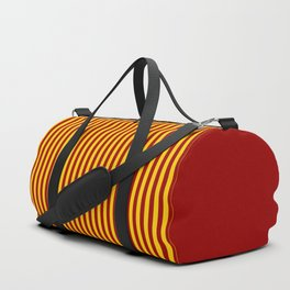 Cardinal and Gold Vertical Stripes Duffle Bag