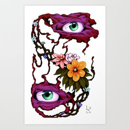 Flower of the Eyes (colorized) Art Print