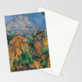 The Montagne Sainte-Victoire seen from the Bibémus quarry Stationery Cards