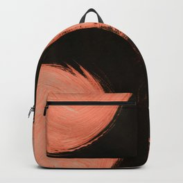 Fire ball, Abstract, Orange Flamengo Backpack