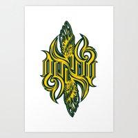 starcraft Art Prints featuring Angel 3K ambigram by LoneLeon