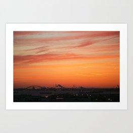 Sunset sky Art Print