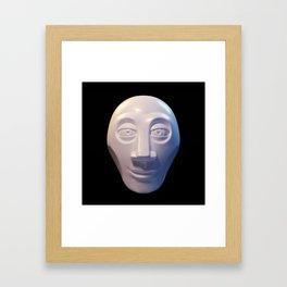 Alien-human hybrid head Framed Art Print