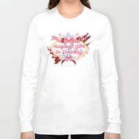 magical girl Long Sleeve T-shirts featuring Magical Girl In Training by CassidyStone