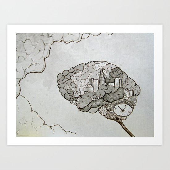 SF on the Mind Art Print