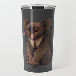 Cute sleepy koala don't care Travel Mug