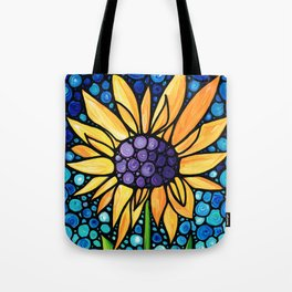 Standing Tall - Sunflower Art By Sharon Cummings Tote Bag