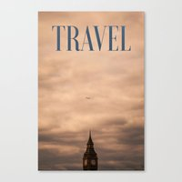 travel poster Canvas Prints featuring Travel by Efty