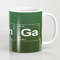 breaking Mugs featuring Breaking Bazinga by dutyfreak