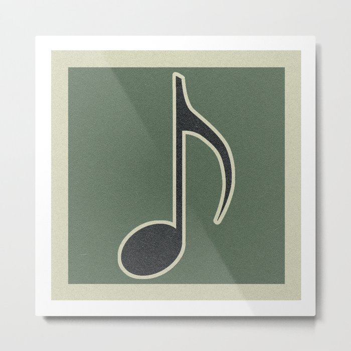 eighth note green Metal Print by rtoews