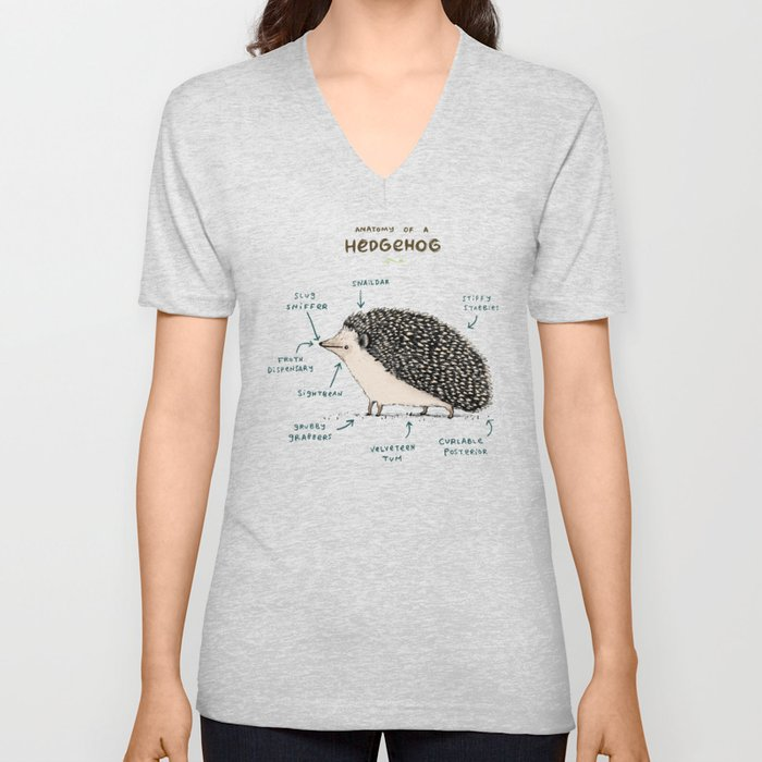 Anatomy of a Hedgehog Unisex V-Neck